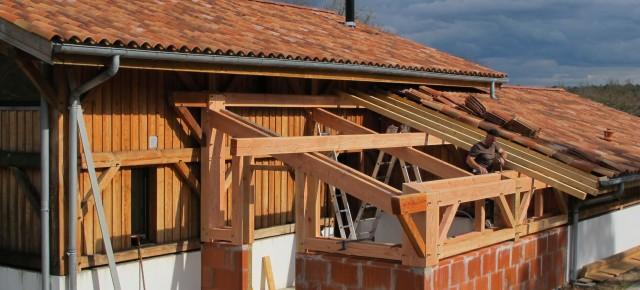 extension pour une belle maison en pin douglas à Vielle